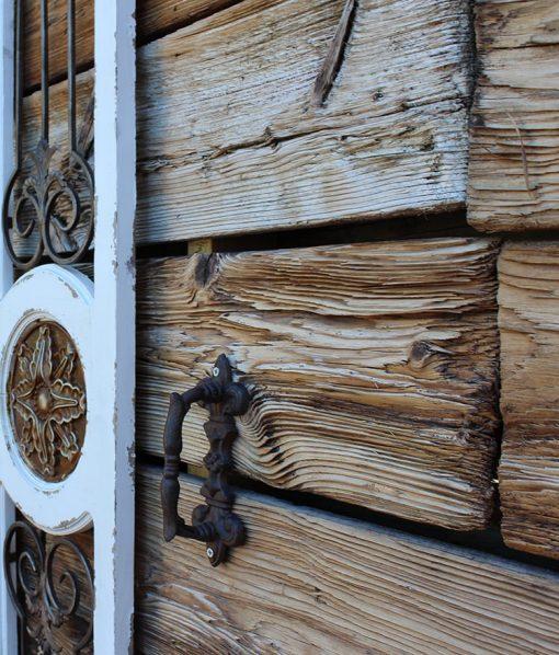 Farm Wood Reclaimed Wallboarding Closeup