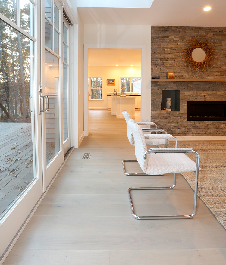 Modern Lake House Architecture: Sawyer Mason Wide Plank Fogg
