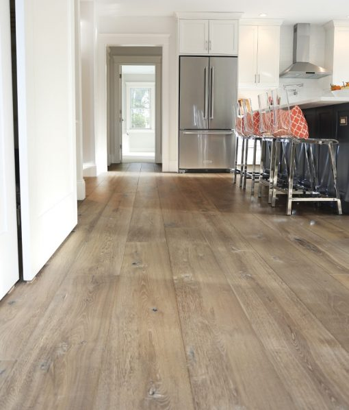 hardwood prefinished wide plank flooring kitchen