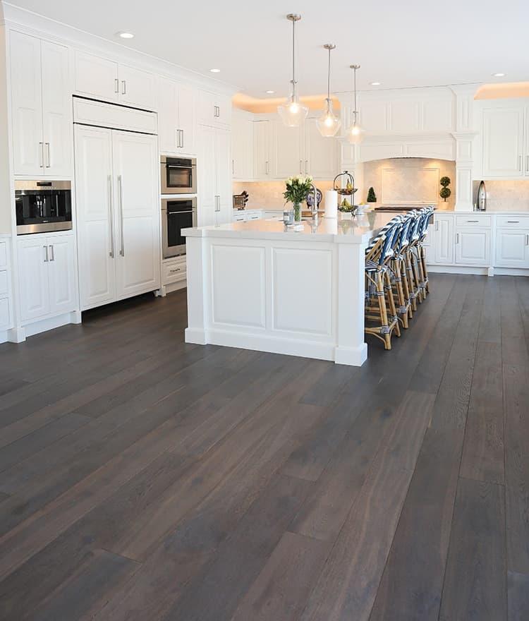 Dark Wide Plank Hardwood Flooring Tremont Stonewood Products