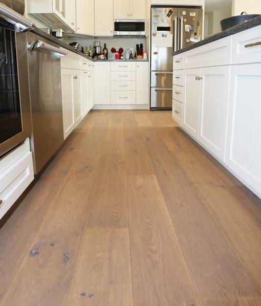 hardwood wide plank flooring kitchen