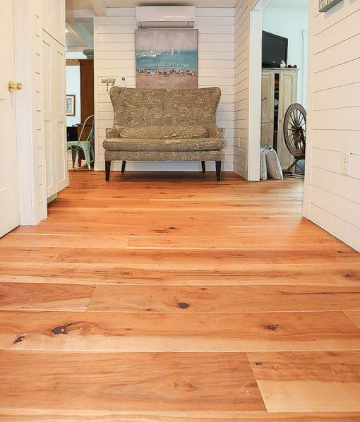 Hardwood wide plank flooring hickory