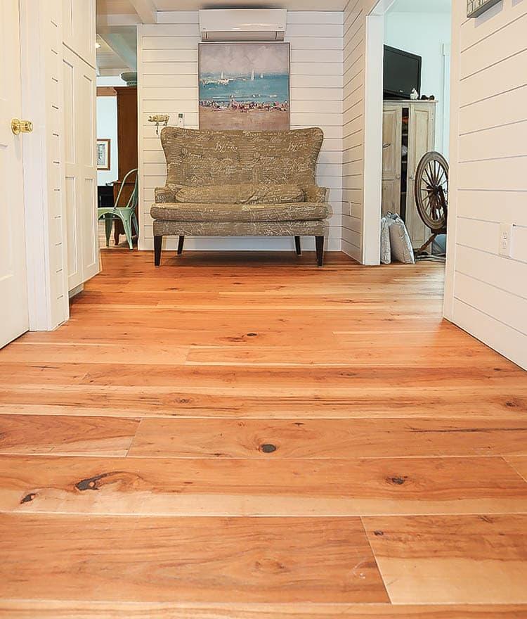 Hardwood Wide Plank Flooring Hickory