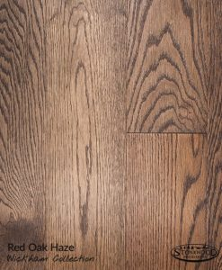 prefinished red oak hardwood floor haze