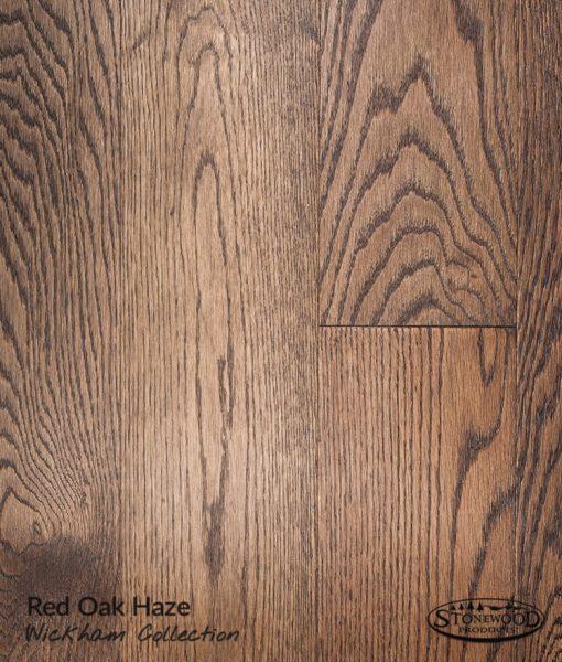 prefinished red oak hardwood floor haze