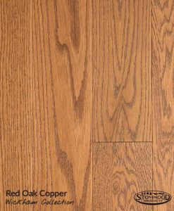 prefinished red oak floor copper
