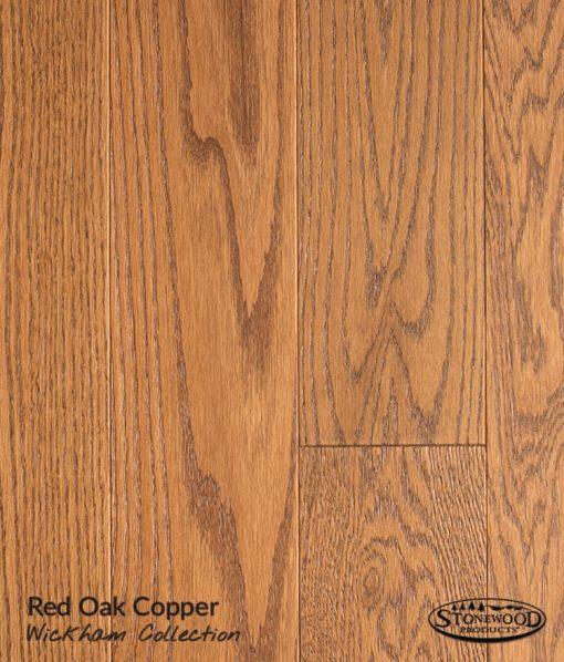 prefinished red oak floor copper