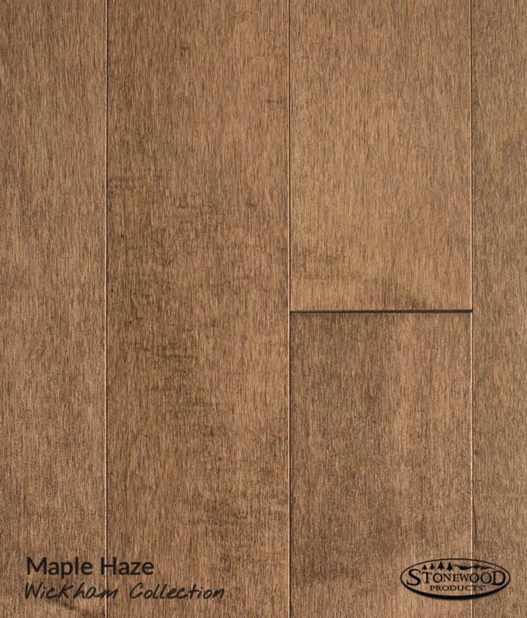 Dark Hardwood Flooring Prefinished Maple Wickham Collection