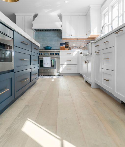prefinished light plank flooring dune