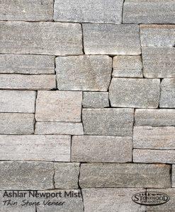 Ashlar Newport Mist Stone Veneer Exterior