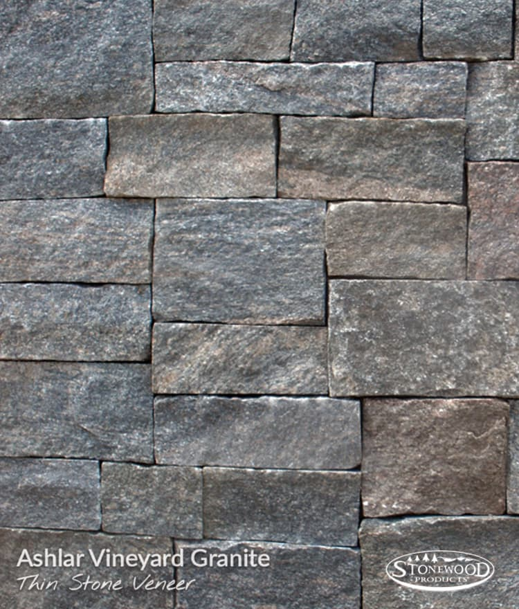 Stone Veneer Siding Ashlar Vineyard Granite Thin Stone