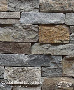 Coastal Blend Ledgestone Outdoor Stone Veneer