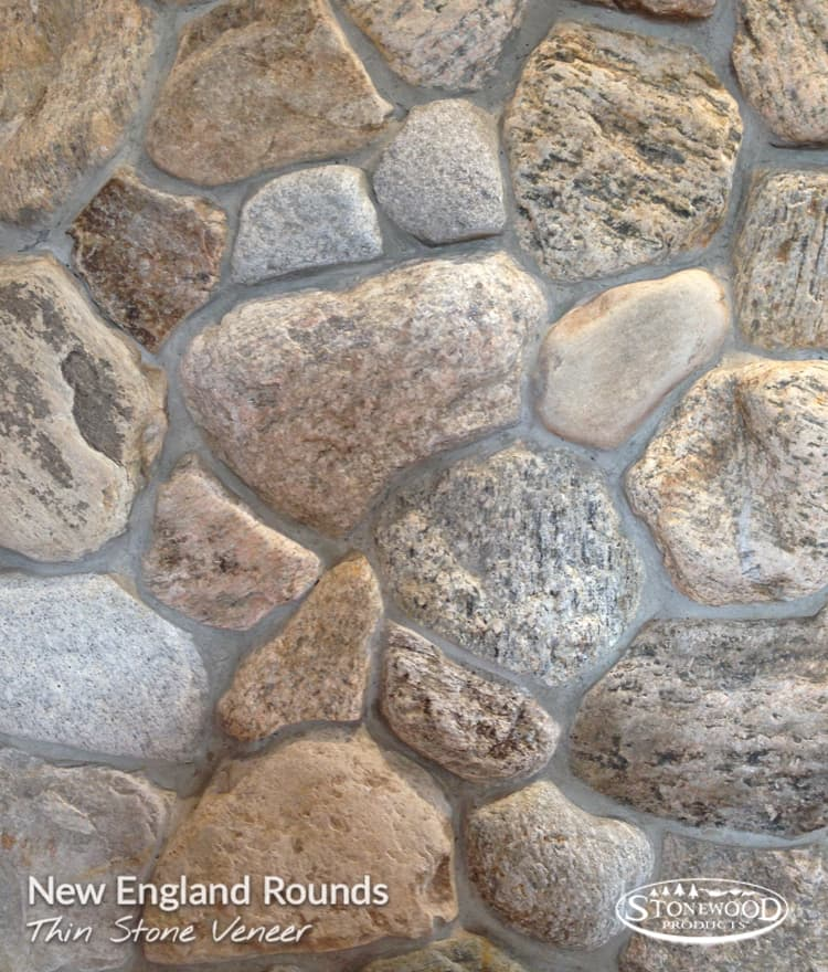 Exterior Stone Veneer New England Rounds Stonewood Products