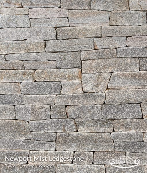 Newport Mist Ledgestone Fireplace Stone Veneer