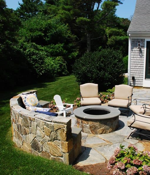 Noble Hill Mosaic Natural Stone Veneers Fire Pit