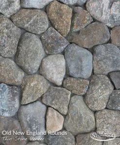 Old New England Rounds Stone Veneer Wall