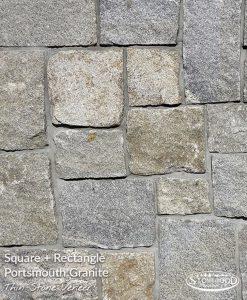 Outdoor Stone Veneers Portsmouth Granite Square + Rectangle