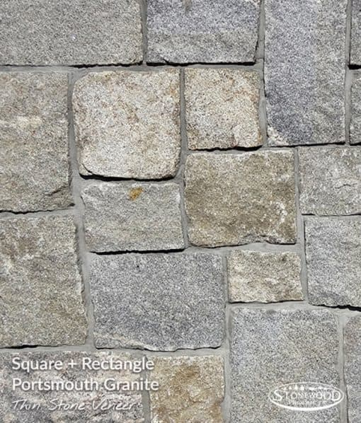 Outdoor Stone Veneers Portsmouth Granite Square + Rectangle