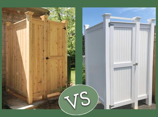 Cedar Shower Kits vs PVC Shower Kits