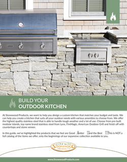 Download our Build Your Outdoor Kitchen Brochure