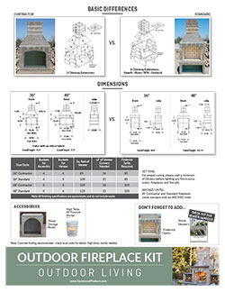 Download our Fireplace and Pizza Oven Handout