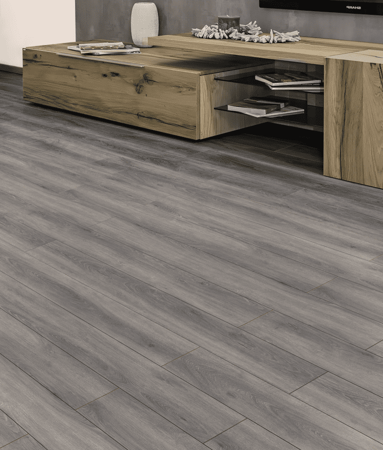 Luxury Vinyl Plank Nickel Gray