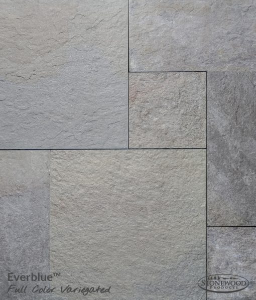Pennsylvania Natural Cleft Variegated Bluestone Porcelain Pavers