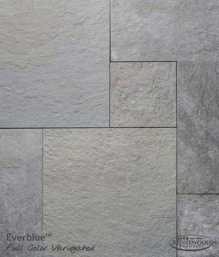 Outdoor Bluestone Porcelain Tile Pavers Natural Cleft Bluestone