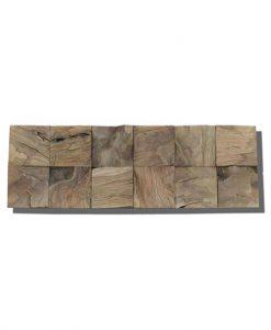 Teak Root Natural Cube Textured Wall Panels