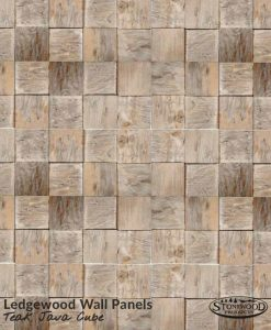 Teak Java Cube Ledgewood Wall Panels