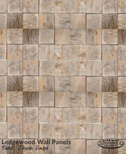 Teak Java Cube Ledgewood Wall Panels