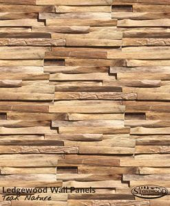 Teak Nature Ledgewood Wall Panels