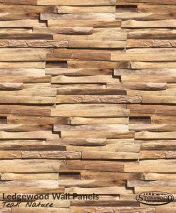 Teak Nature Ledgewood Wall Panels