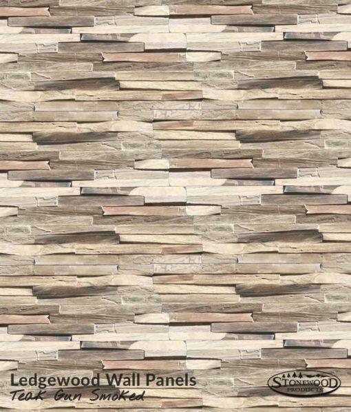 Teak Gun Smoked Ledgewood Wall Panels