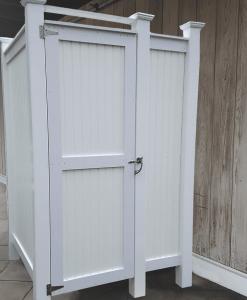 Standard House Mount PVC Outdoor Shower Kit