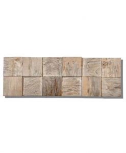 Textured Wall Planks - Teak Java Cube Ledgewood Wall Panels