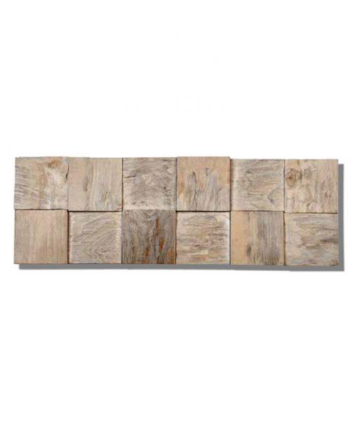 Textured Wall Planks - Teak Java Cube Ledgewood Wall Panels