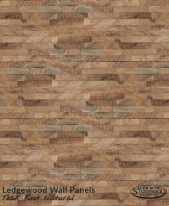 Ledgewood Wall Panels Teak Root Natural