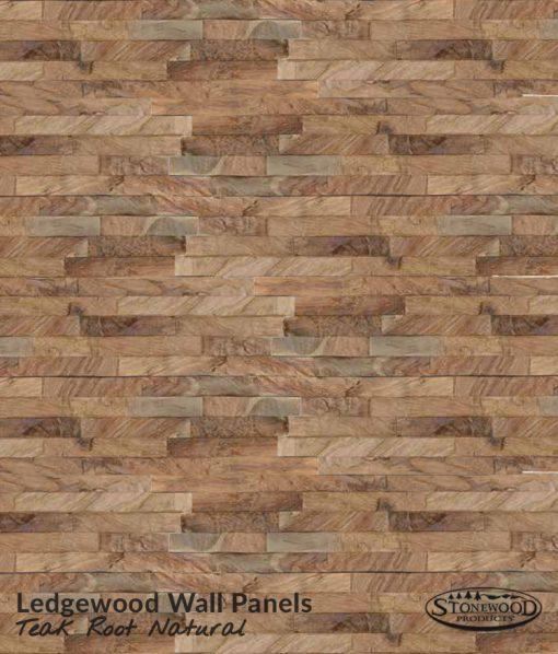 Ledgewood Wall Panels Teak Root Natural