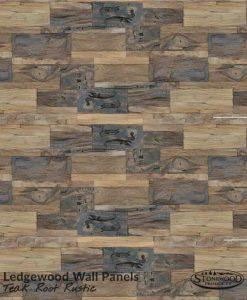 Teak Root Rustic Ledgewood Wall Panels