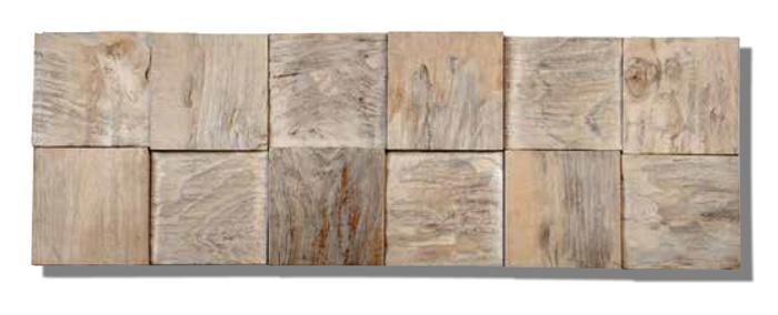 Teakwood Wall Plank Paneling Classic Cube Java