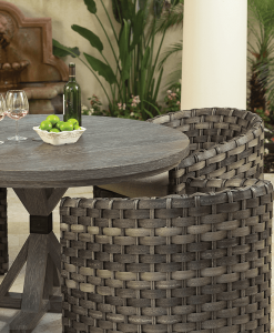 Allegre Outdoor Barrel Dining Chairs