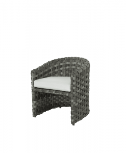 Allegre Outdoor Barrel Dining Chairs with cushion