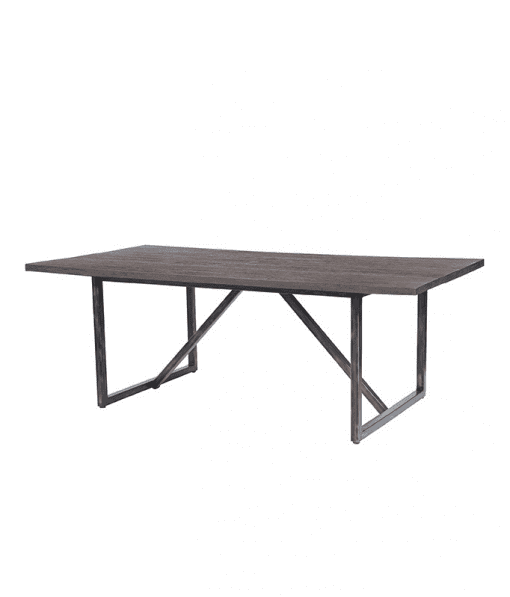 Fiore Outdoor Dining Table with Smoke Finish