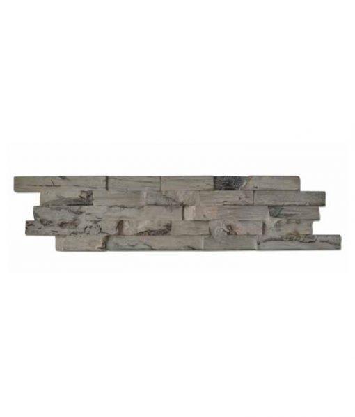 Ledgewood Hevea Sun Bleached 3D Wall Panels on white