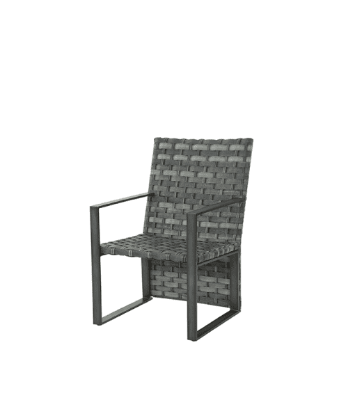 Lucca Outdoor Dining Chair without cushion