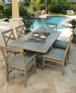 Portofino Weathered Outdoor Dining Table