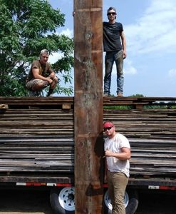 Reclaimed 1840s River Raft Boards
