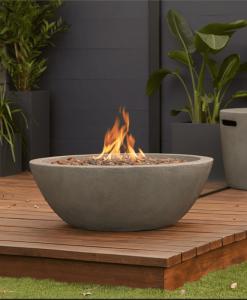 Riverside Gas Fire Bowl on patio