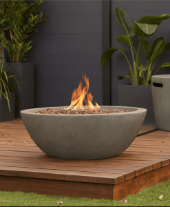 Riverside Gas Fire Bowl on patio